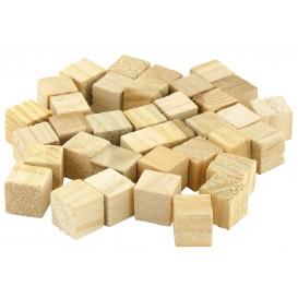 36 cubes en bois brut 1,5cm