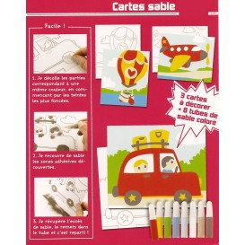 kit 3 cartes sable moyens de transport