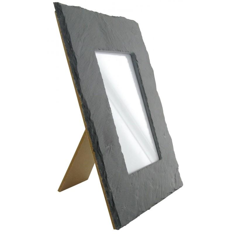 cadre photo ardoise rectangulaire 24x19x4cm