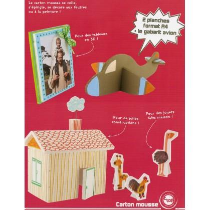 2 feuilles carton mousse blanc a4. Black Bedroom Furniture Sets. Home Design Ideas