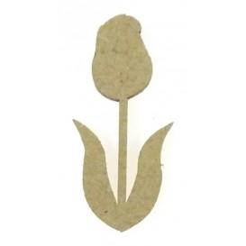 sujet en bois fleur tulipe