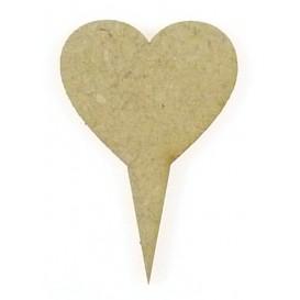 sujet en bois pointeur-flèche coeur