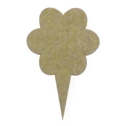 sujet en bois pointeur-flèche fleur