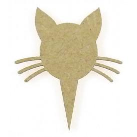 sujet en bois pointeur-flèche tête de chat