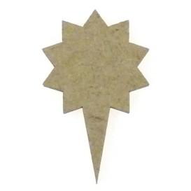 sujet en bois pointeur-flèche étoile