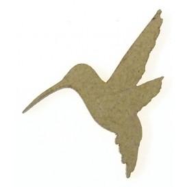 sujet en bois oiseau colibri