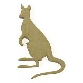 sujet en bois kangourou et bébé