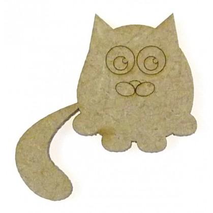 sujet en bois chat gravé n°2
