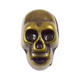 bouton tête de mort à coudre déco 8x12mm