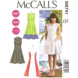 patron robes doublées McCall's M6741