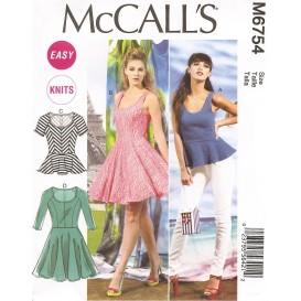 patron hauts et robes McCall's M6754