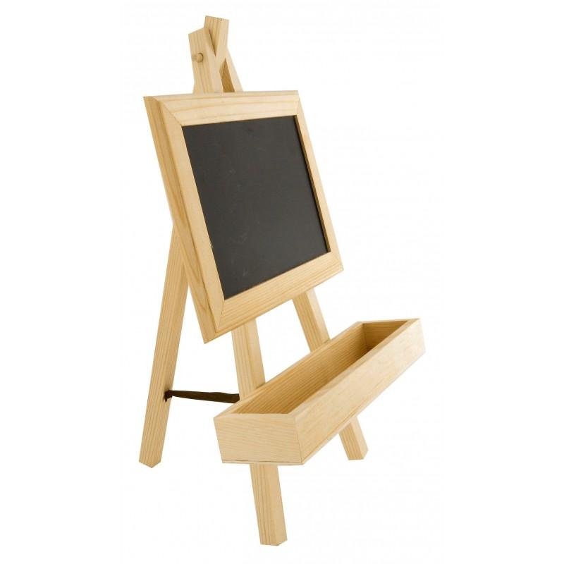 chevalet ardoise avec rangement en bois. Black Bedroom Furniture Sets. Home Design Ideas