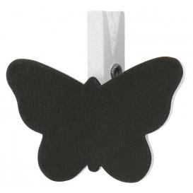 6 pinces à linge ardoise papillon
