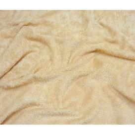 tissu éponge beige largeur 160cm x 50cm