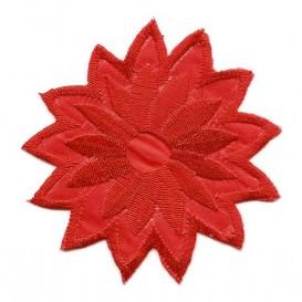 écusson fleur rouge thermocollant