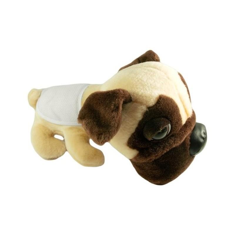 peluche chien pug 28cm avec bavoir broder. Black Bedroom Furniture Sets. Home Design Ideas
