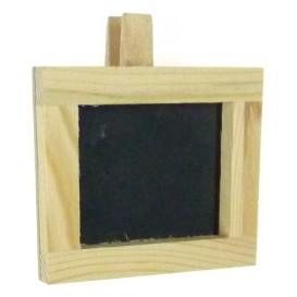 cadre ardoise pince 7x7,5cm en bois