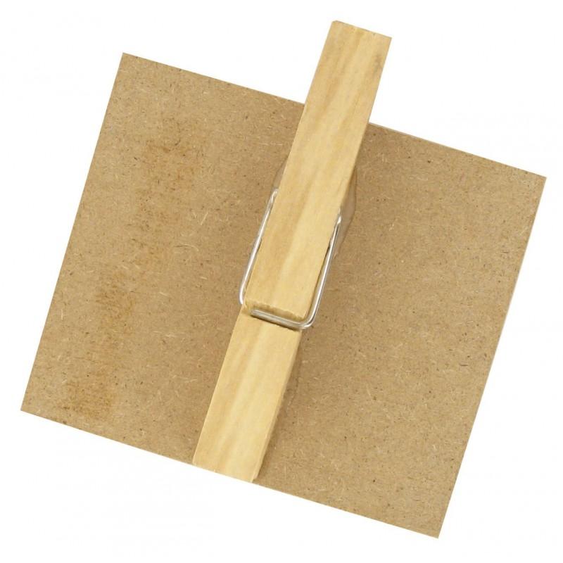 cadre ardoise pince 7x7 5cm en bois brut d corer. Black Bedroom Furniture Sets. Home Design Ideas