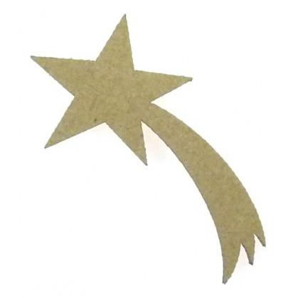 sujet en bois étoile filante