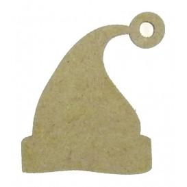 sujet en bois bonnet de noël