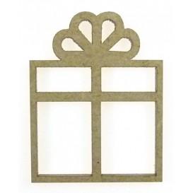 sujet en bois cadeau de noël