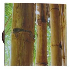 2 pinces déco métal carré bambous