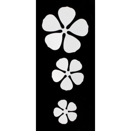 3 fleurs relief métal aimant