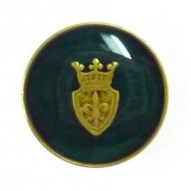 bouton rond blason royal