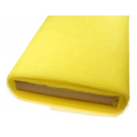 tulle uni jaune au rouleau de 25m