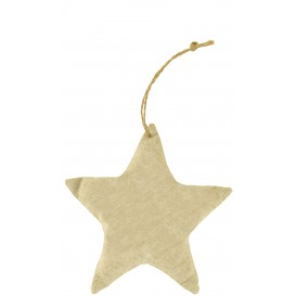 étoile toile style jute rembourrée 12x3cm à suspendre