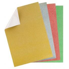 6 feuilles papier glitter adhésif 20x30cm