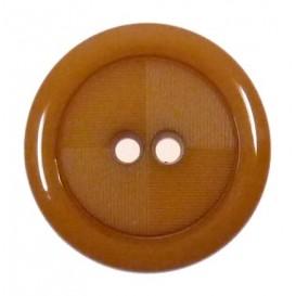 bouton rond marron clair strie