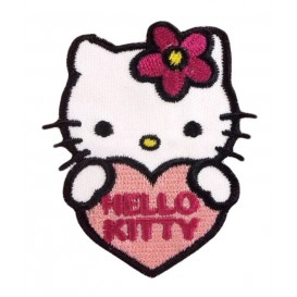 écusson hello kitty coeur thermocollant