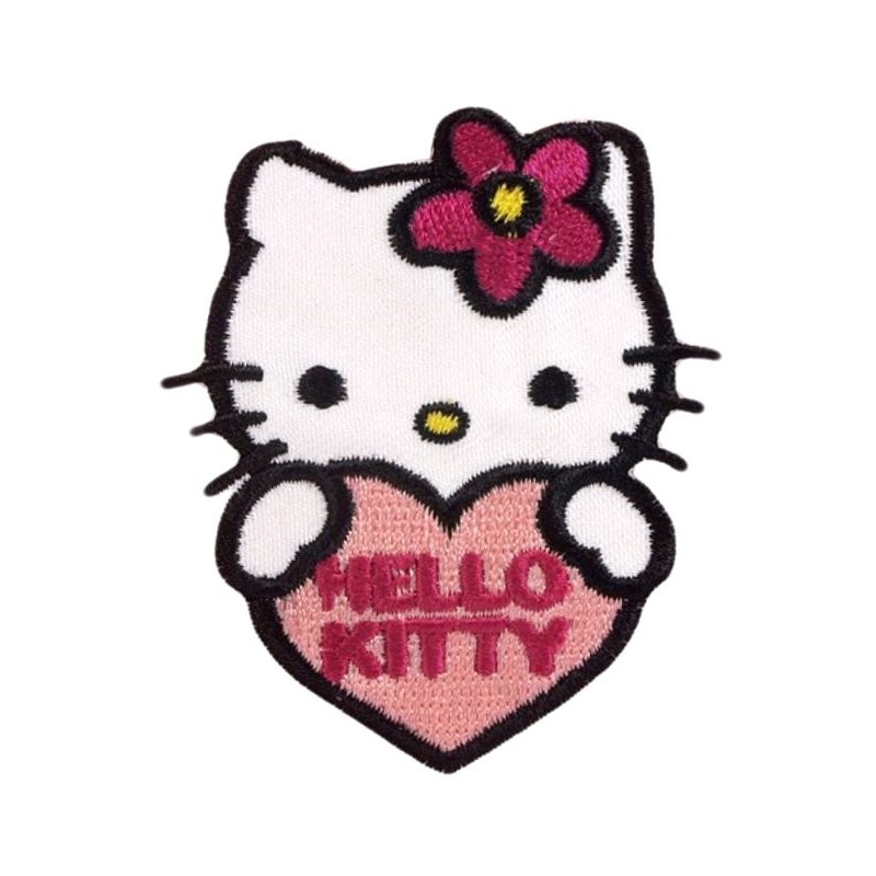 Cusson hello kitty coeur thermocollant - Hello kitty coeur ...