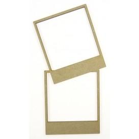 sujet en bois polaroid frame duo 10x5,3cm