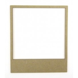 sujet en bois polaroid frame 10x8,5cm