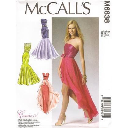 patron robes et ceinture McCall's M6838