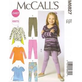 patron enfant hauts, collant McCall's M6827