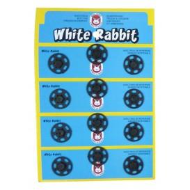 12 boutons pressions plastique 20mm