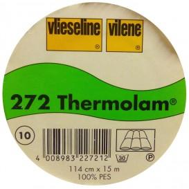 vlieseline molleton fin thermolam 272 largeur 114cm x 50cm