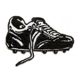 écusson chaussure de foot noir et blanc thermocollant