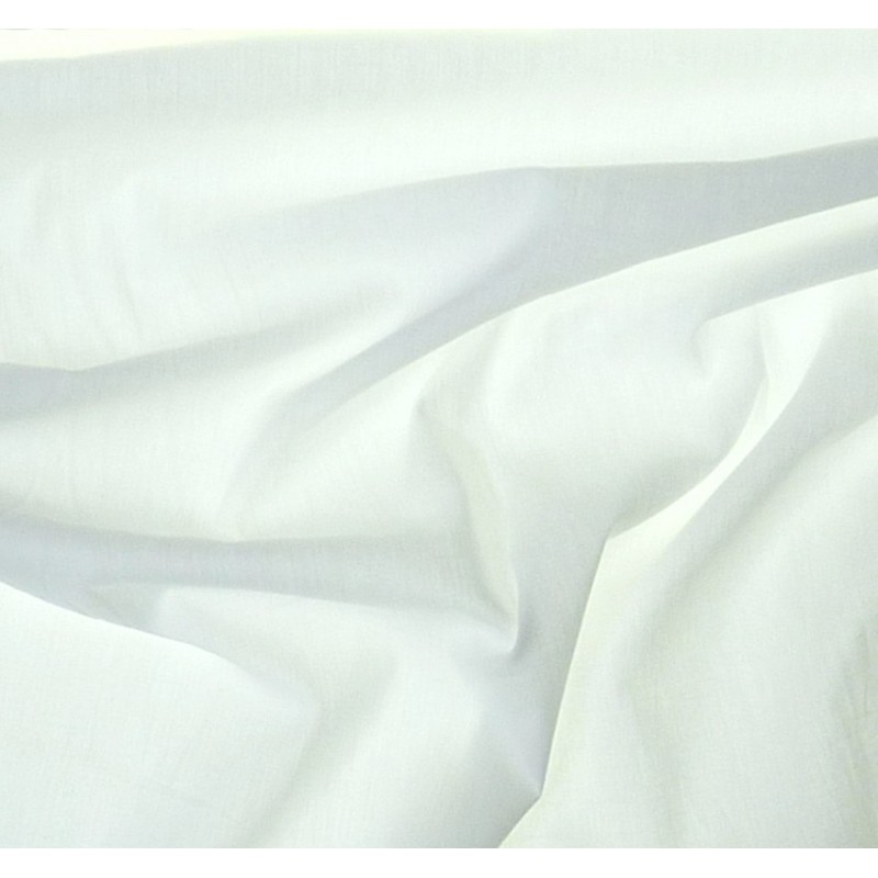 tissu coton uni blanc largeur 150cm x 50cm. Black Bedroom Furniture Sets. Home Design Ideas