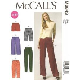 patron short et pantalon McCall's M6843