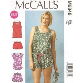 patron hauts, barboteuse, short McCall's M6848