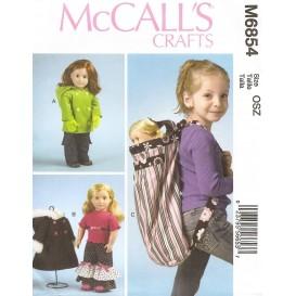 patron vêtements pour poupée de 45cm McCall's M6854