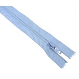 fermetures à glissières polyester bleu azur