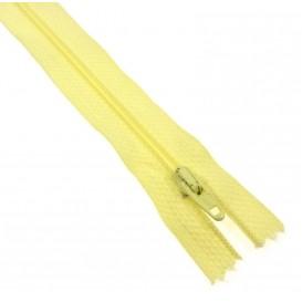 fermetures à glissières polyester jaune mimosa