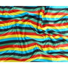 tissu satin carnaval rayures largeur 150cm x 50cm
