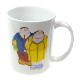 mug céramique blanc alain willette