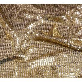 tissu paillettes noir/or largeur 110cm x 50cm